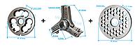 Комплект полуунгер R70 с решеткой 6 мм + нож со сменными лезвиями