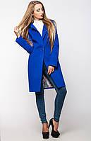Женское кашемировое синее пальто