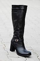 Женские кожаные сапоги зимние
