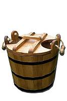 Запарник для бани с крышкой 25л (Дуб)