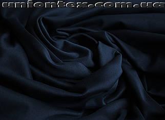 Трикотаж дайвинг с начесом темно- синий