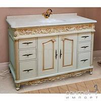 Мебель для ванных комнат и зеркала Marsan Тумба напольная с мраморной столешницей и раковиной из литого камня Marsan Olympia 1270 айвори