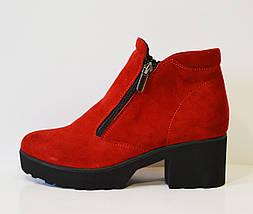 Красные женские ботинки Selesta 4811, фото 2
