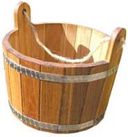 Шайка для бани 15л (Дуб)