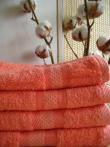 Полотенце  махровое банное (цвет коралловый)