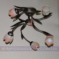 Люстра кованая в старинном стиле шестиламповая KODE:452461