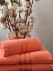 Махровые полотенца оптом (цвет лосось)
