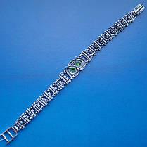Серебряный женский браслет Сова с фианитами, 185мм, фото 3