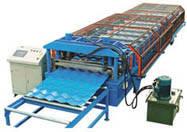 Прокат металлочерепицы, прокатка металла в металлочерпицу, изготовление металлочерпицы