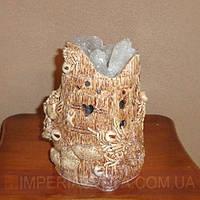 Декоративная лампа соляная светильник дерево с совой KODE:132033