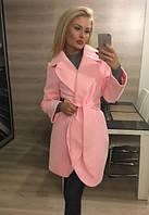 """Пальто """"Клара"""", персиковое"""