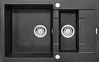 Гранитная мойка 7849 глубина 19 см Deante серии Rapido графитовый гранит прямоугольная артикул ZQК 2513