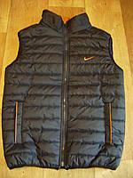 Темно-синий дутый жилет Nike мужская жилетка