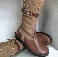 """Сапоги кожаные зимние коричневые на девочку 35р. """"Palaris"""""""