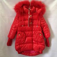 Коралловая куртка парка для девочки