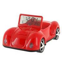 Подставка для телефона с часами Машинка красная