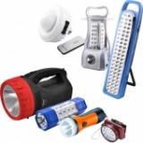 Фонари налобные и ручные, лампы аккумуляторные
