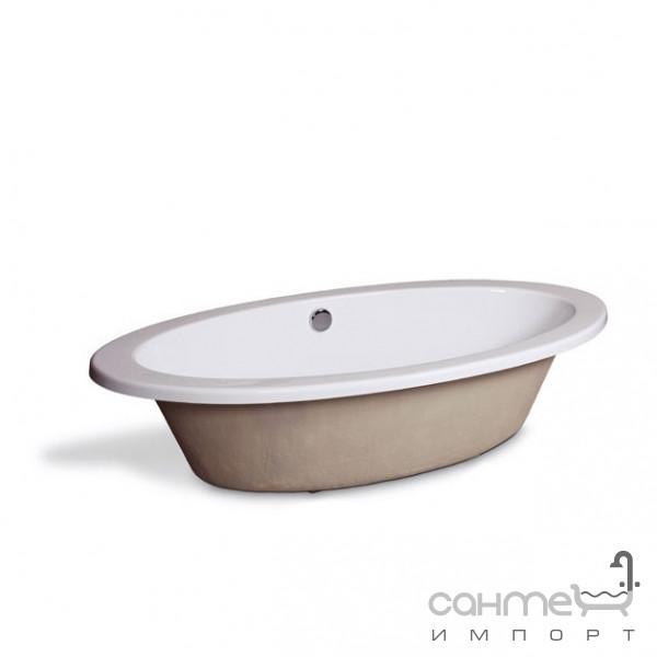Ванны Aqua-World Встраиваемая ванна с переливом Aqua-World AW821 с сифоном D-4 АВ821 белая