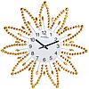 Часы настенные с камнями жёлтый метал 40х40 см Your Time 02-225
