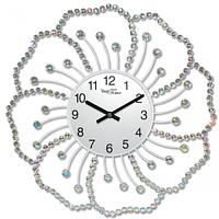 Часы настенные с камнями Цветок металл 40х40 см Your Time 02-226