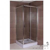 Душевые кабины, двери и шторки для ванн Aqua-World Квадратная душевая кабина Aqua-World Bi-fold BF8080Q ДкБФк.80-Im интимато стекло