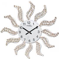 Часы настенные с камнями металл 40х40 см Your Time 02-234