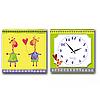 Часы настенные на холсте 2х секционные Жирафы детские 28*28см 1 секция Your Time 06-101