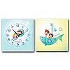 Часы настенные на холсте 2х секционные Моряки 28*28см 1 секция Your Time 06-112
