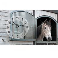 Часы настенные на холсте Лошади 50*30см Your Time 06-200
