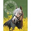 Часы настенные на холсте Лошади 30*50см Your Time 06-201