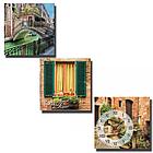 Часы настенные на холсте 3х секционные Каналы Венеции  Your Time 06-303