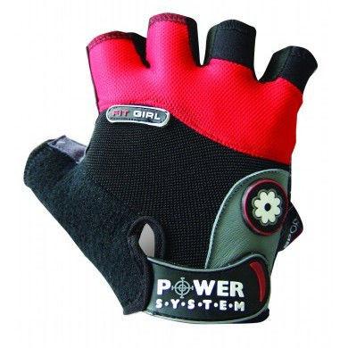 Перчатки спортивные, женские Power System FIT GIRL PS 2900 Red