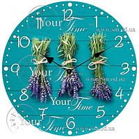 Часы настенные стекло/круглый 28 см Прованс Your Time 01-357