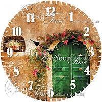 Часы настенные стекло/круглый 28 см Прованс Your Time 01-359