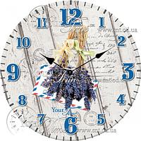Часы настенные стекло/круглый 28 см Прованс Your Time 01-360