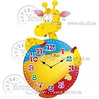 Часы настенные Жираф детские МДФ 20,5 * 4,5 * 33,5см Your Time 05-203
