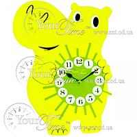 Часы настенные Бегемот детские МДФ 24,5 * 4,5 * 33,5см Your Time 05-204
