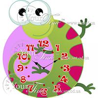 Часы настенные Ящерица детские МДФ 32 * 4,5 * 34см Your Time 05-220