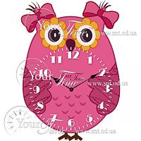 Часы настенные Сова детские МДФ 22,5 * 4,5 * 32,5см Your Time 05-226
