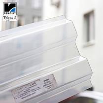 Молочный прозрачный шифер Ондекс 2,5*1,09м, фото 3