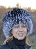 Шапка з хутра чорнобурки., фото 1