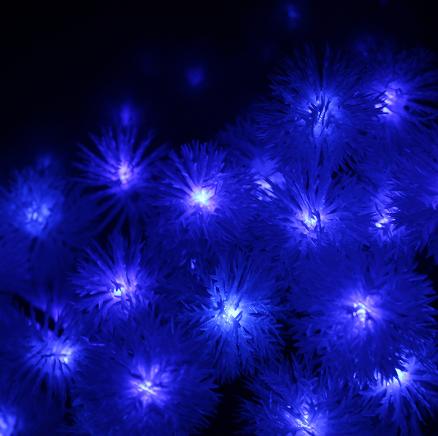 Гирлянда на солнечной батарее Праздничные огни синие 7м 50LED