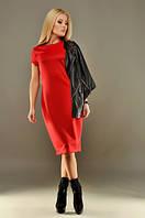 Женское платье дайвинг красное