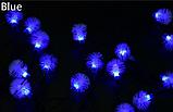 Гирлянда на солнечной батарее Праздничные огни синие 7м 50LED, фото 3