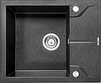 Гранитная мойка 5949 глубина 19 см Deante серии Andante графитовый металлик прямоугольная артикул ZQN G11A