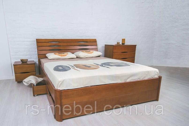 """Кровать двухспальная """"Марита Люкс с ящиками"""", дерево (ТМ Олимп)"""