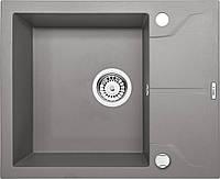 Мойка гранитная 5949 глубина 19 см Deante серии Andante серый металлик прямоугольная артикул ZQN S11A
