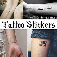 "Тату-стикеры - ""Tattoo Stickers"" - 1 комплект на выбор!"