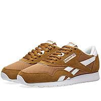 Оригинальные  кроссовки Reebok Classic Nylon Golden Brown & White