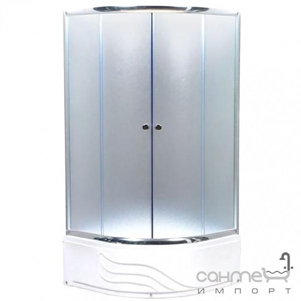 Душевые кабины, двери и шторки для ванн GM Душевая кабина GM GM-6022 80*80*210 профиль хром, матовое стекло